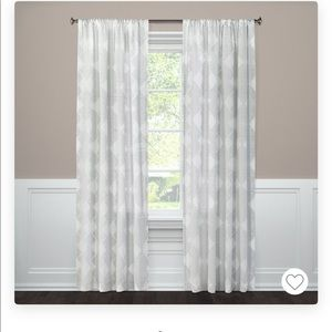 Clipped Sheer Curtains and Rods